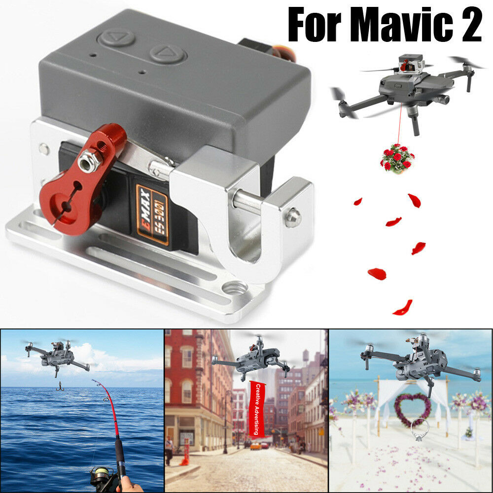 Drone Clip Payload Delivery Drop Transport Device For DJI MAVIC 2 Pro/Zoom 2018