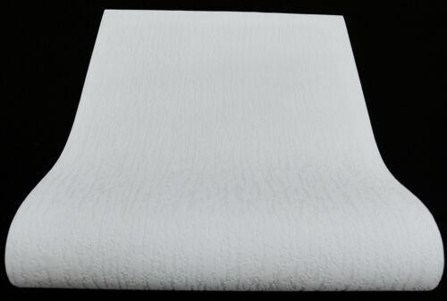 moderne dicke Vinyltapete schneeweiß Putz-Struktur 09009-10-519