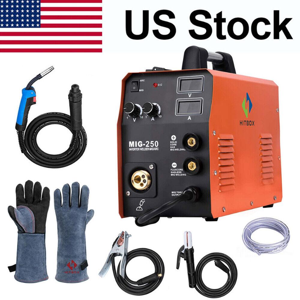 4IN1 MIG 250 MIG Welder Gas Gasless Lift TIG ARC MIG Welding Machine IGBT 220V. Buy it now for 249.99