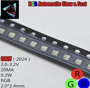 RGb 0805 slow Fast Blinking Flashing LED (SMD) UK