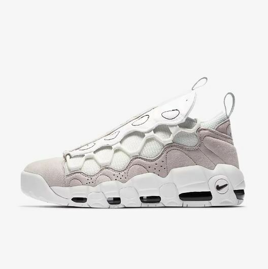 NIKE AIR MORE MONEY AS QS US MEN SZ 6.5  VAST GREY WHITE