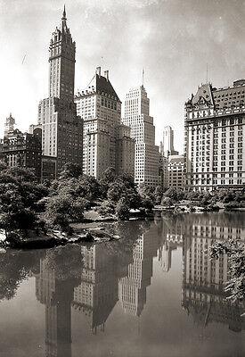 Repro photo ancienne New-York Etats-Unis Flatiron building deb XXe s