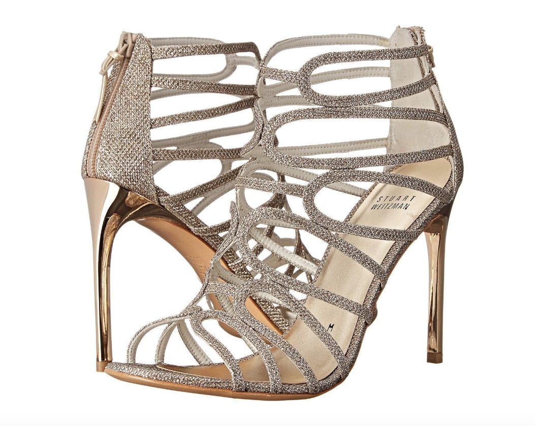 Stuart Stuart Stuart Weitzman mujerLoopdeloop Platinum negro Sandals Sz 7.5 2957  mejor precio