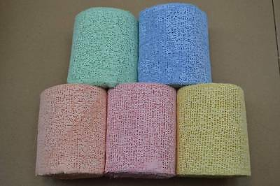 """20 Rolls 4"""" Colored Plaster Wrap Bandage Belly Cast Crafts Train Scenery Mask"""