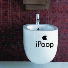 Toilet ipoop Wall Sticker Vinyl Art Wallpaper Removable Bathroom Decals Decor