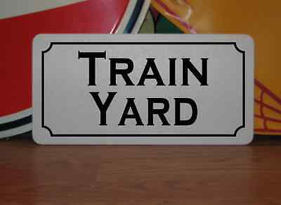 TRAIN YARD Metal Sign 4 Retro-vintage Tin for Auto Factory Ship or Train PROP