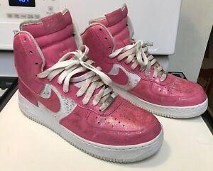 9c99cf2cb27e Nike Air Force High Top Custom Pink Sparkle Glitter Shoes Women Size ...