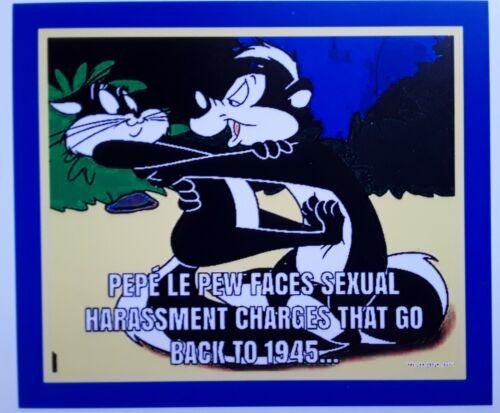 New Pepe Le Pew Magnet ☆ Cartoon ☆ Warner Bros Looney Tunes /& Merrie Melodies