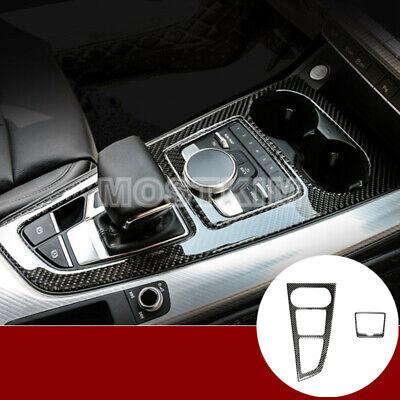 Carbon Fiber Center Console Air Vent Outlet Cover 2pcs for Audi A4 S4 2008-2015