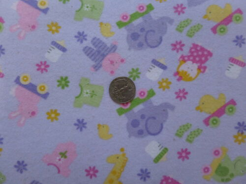 BABY FLANNEL BITTY BABY GIRL F1072 Lilac  Alpine Fabrics 1//2 YARD