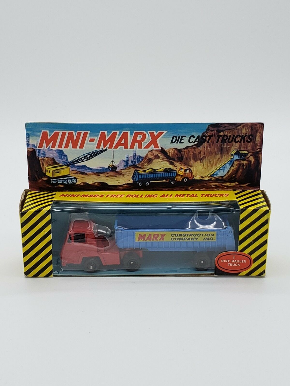 Vintage Mini Marx Die Cast Truck Marx Construction Company Dirt Hauler Truck CIB