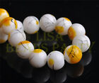 New 20pcs 12mm Round Glass Ball Jewelry Findings Loose Spacer Beads Yellow