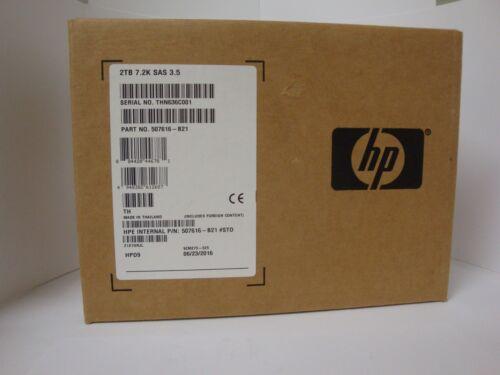 NEW HP 507616-B21 2TB SAS MDL Tray Gen 6  Zero Hours Retail Box 1 Year Warranty