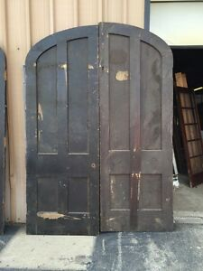 D 141 One Pair Antique Arched Double Doors Popular Ebay