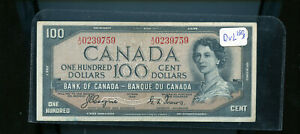1954-Bank-of-Canada-100-Devil-039-s-Face-Coyne-Towers-CH128