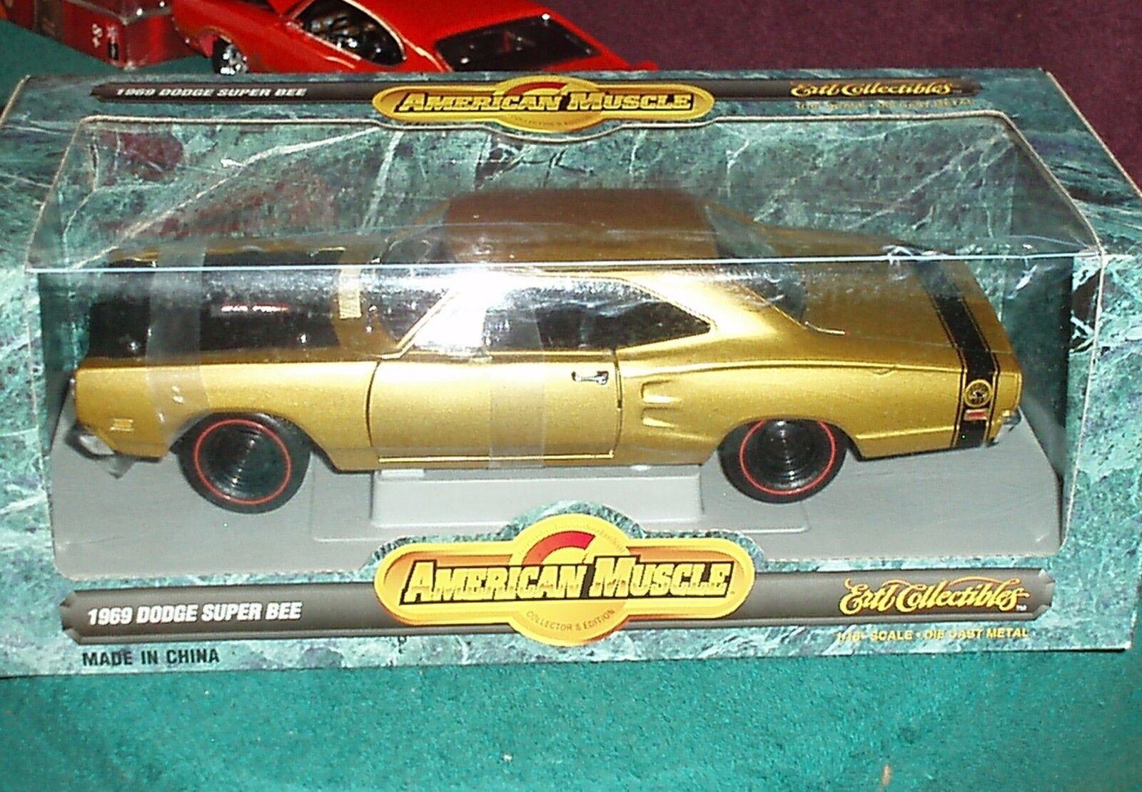 Ertl 1969 Dodge Super Bee oro 1 18 American Músculo Mopar