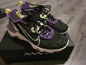 Nike-React-Vision-Men-039-s-Black-Sail-Dark-Smoke-Grey-Low-Lifestyle-Shoes-Sneakers