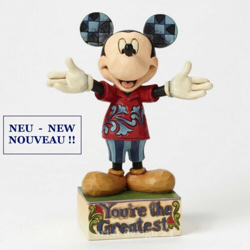 "Jim Shore Figur 4049637 ENESCO DISNEY Skulptur BRANDNEU !! /""DAD MICKEY/"""