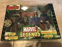 Marvel Legends Monsters Set Werewolf Dracula Zombie Frankenstein 4 Figures