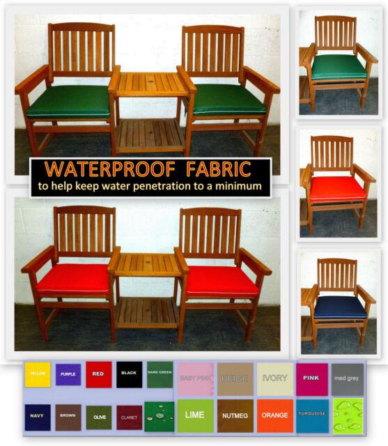 2x Zippy Waterproof Piped Chair, Waterproof Garden Seat Cushion Covers