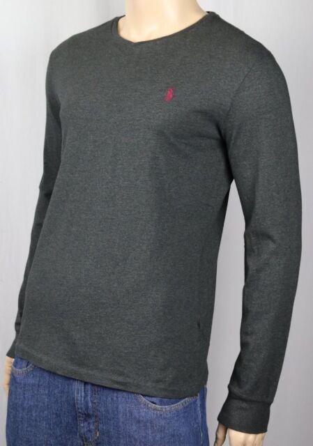 eef28514b Polo Ralph Lauren V Neck T-shirt Mens Long Sleeve Classic Fit Pony ...