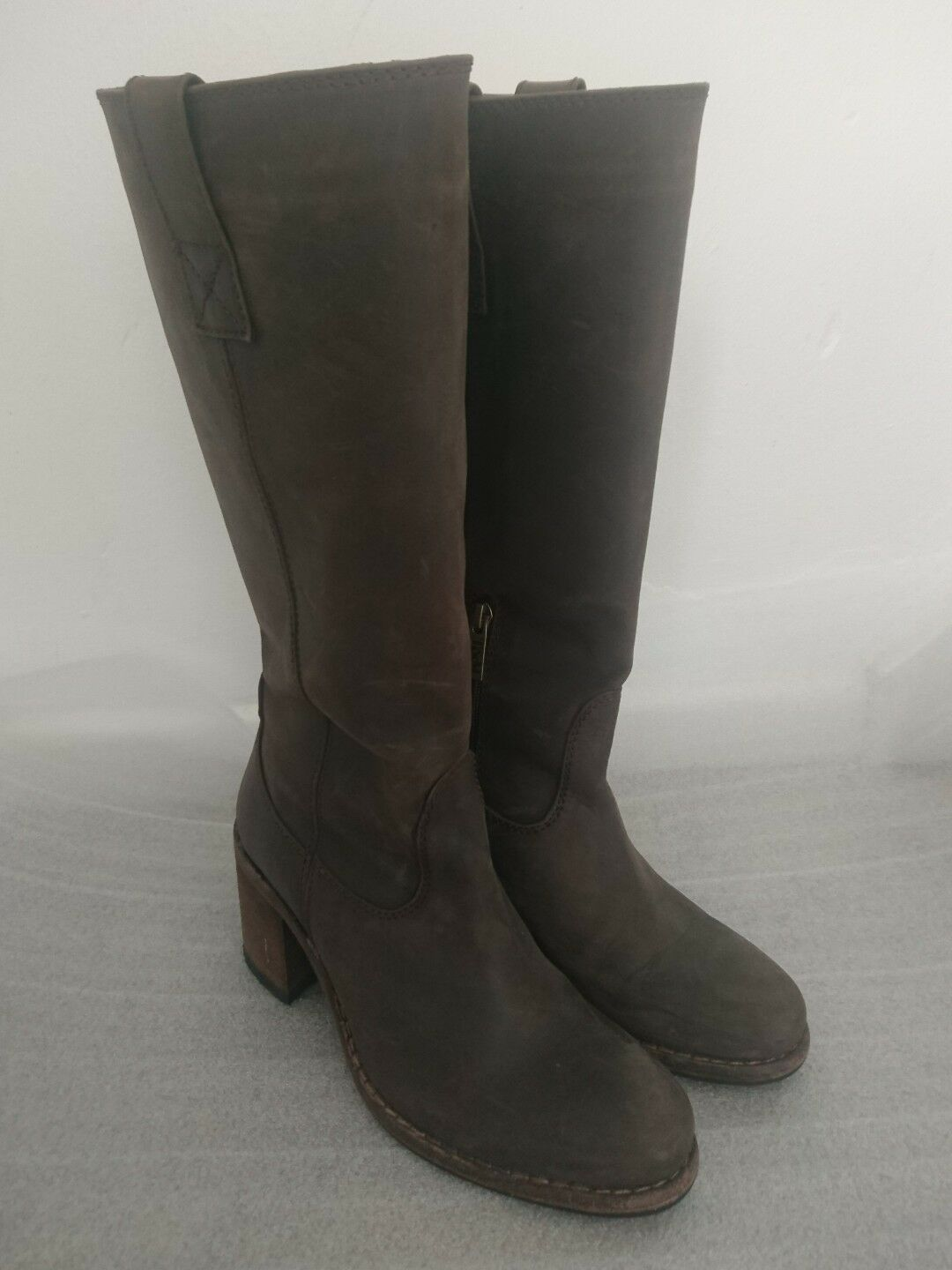 Ted &  Muffy  &  Duo Braun High Leder Knee High Braun Stiefel Größe 38 ... 443740