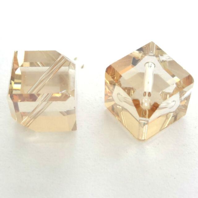 Swarovski 5600 Diagonal Cube Beads 6mm 8mm All Colours