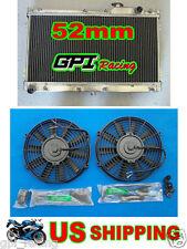 Aluminum Radiator Fan for Mazda MX-5 Miata MX5 MT 1990-1997 91 92 93 94 95 96