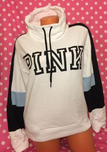 Victoria's Pullover Grande Pink Maglione Nwt Secret Cowl Bianco Axdq4w4C