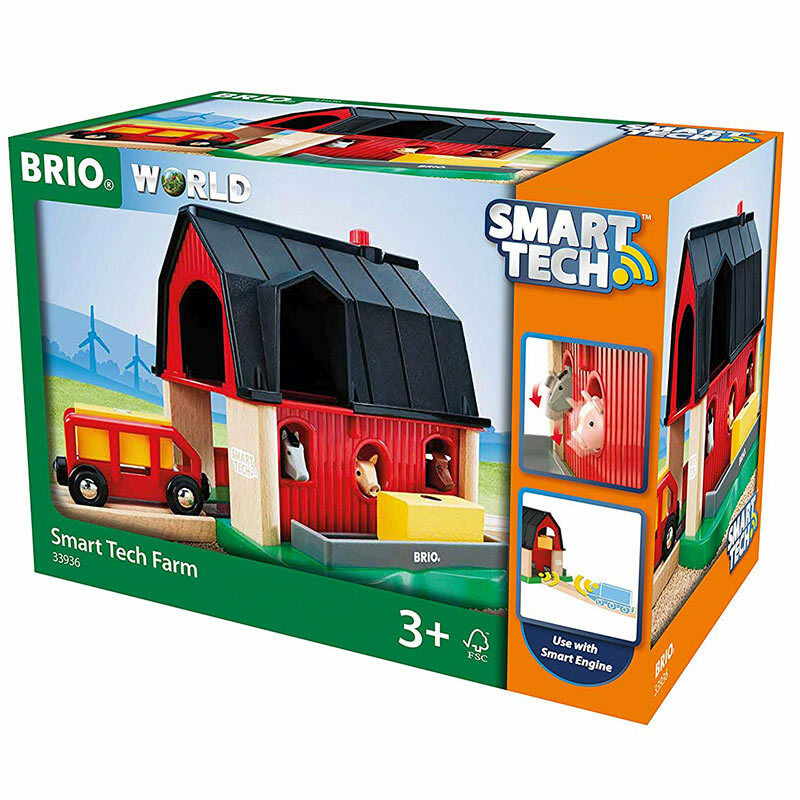 BRIO World 33936 Smart Tech - - - Farm for Wooden Train Set 44d516