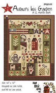 Audra's Iris Garen BOM Quilt Pattern by Jan Patek