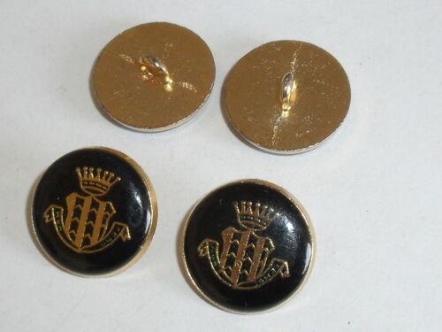 6 pieza de metal botones botón botones emblema botón de 20 mm de oro nuevo inoxidable 0316