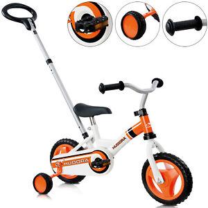 Hudora Kinderfahrrad mit Stützräder Kinderrad ab 3 Jahren Fahrrad BMX 10 Zoll