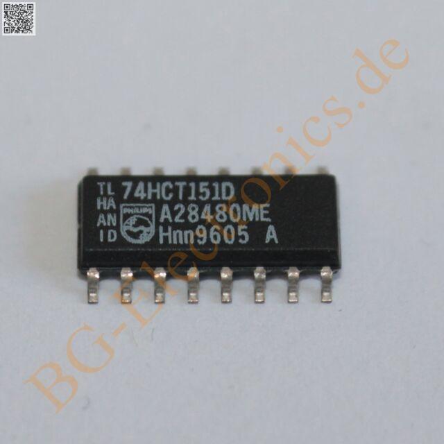 5 x 74HCT151D 8-input multiplexer Philips SO-16 5pcs
