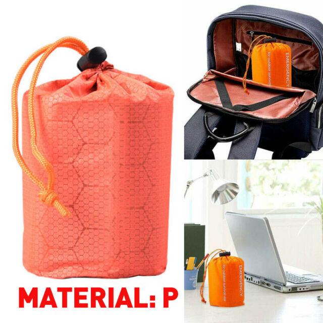 Reusable Emergency Sleeping Bag Thermal Survival Camping Travel Bags Waterproof