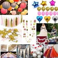Hanging Garland Paper Balloon Lantern Banner Tissue Tassel Party Wedding Decor
