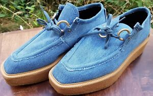 Uk Denim Rubber Stella Wedge Taille Mccartney Chaussures Femmes Laced 37 Eur Bleu 4 xYwqz5wcH