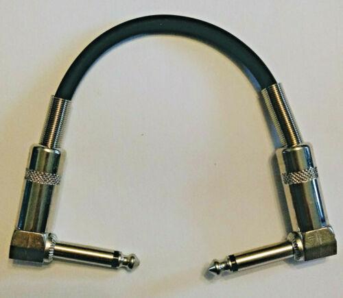 Patchkabel 15cm Metallstecker Klinke gewinkelt