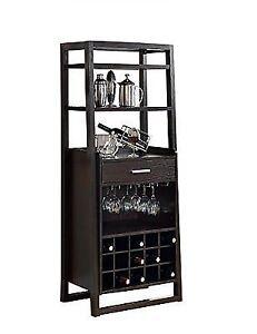 Superbe Monarch Specialties Cappuccino Finish Bar Ladder