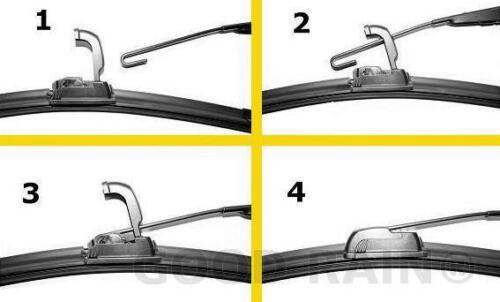Terrano 530//500 mm Advance 1 Satz Scheibenwischer für Skoda Superb VW Passat