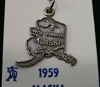 Unique Sterling Silver State Of Alaska Pendent/ Charm Make Offer 1970