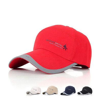Fashion Mens Womens Adjustable Baseball Cap Sports Visor Sun Golf ball Hat