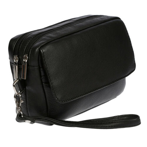 Herren echt Leder Handgelenktasche Herrenhandtasche Dokumententasche Tasche NEU