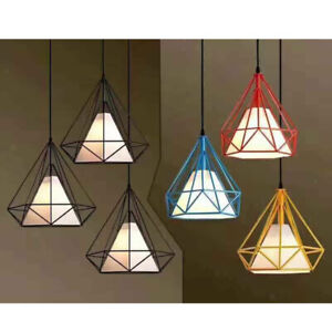 Modern-Geometric-Diamond-Caged-Ceiling-Pendant-Light-Shade-Easy-Fit-Lampshade