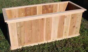 New Large Cedar Wood Solid Planter Box 2 Ft X 4 Ft X 2 Ft Garden