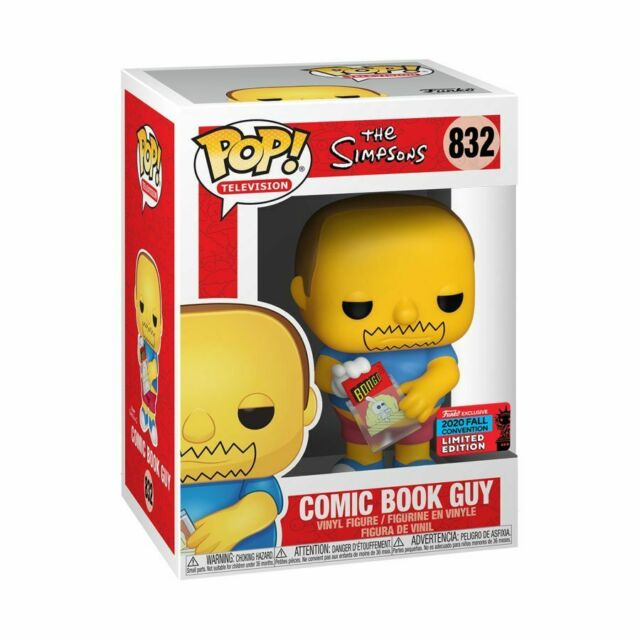 NYCC 2020 Shared Exclusive Comic Book Guy The Simpsons