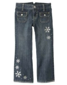 gymboree winter cheer denim snowflake jeans pants 3 4 5 6 7 8 9 10 12 nwt ebay. Black Bedroom Furniture Sets. Home Design Ideas