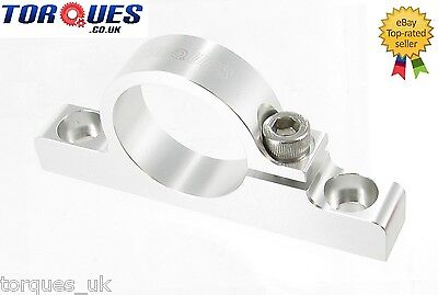 Billet Aluminium Fuel Filter Cradle / Clamp In Silver 30mm I.D
