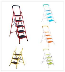 Sensational Details About Non Slip 3 4 5 Step Ladder Folding Platform Stool 330Lbs Load Capacity Heavyduty Machost Co Dining Chair Design Ideas Machostcouk