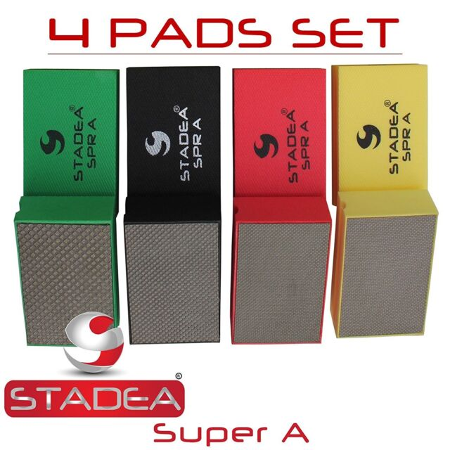 STADEA Premium Grade Wet 6 Diamond Polishing Pads 8 Pcs Set For GRANITE MARBLE STONE Polish